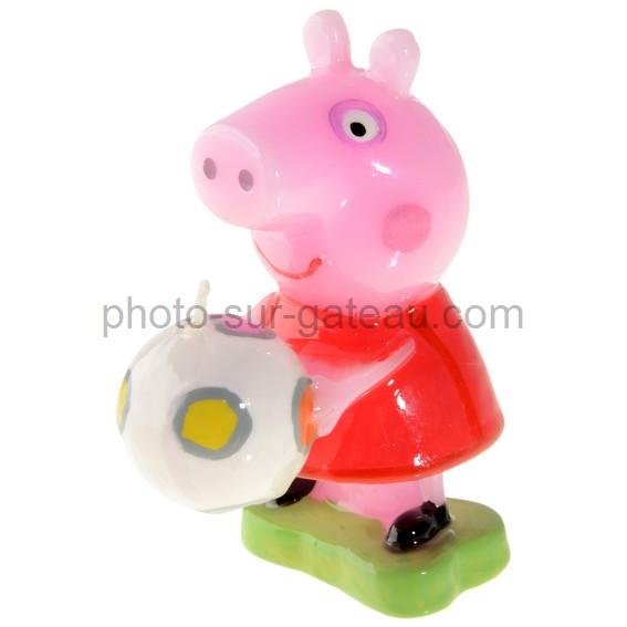 Bougie Peppa pig décor pour gâteau