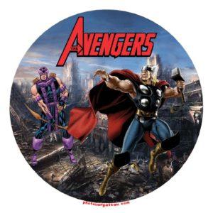 photo pour gâteau Avengers