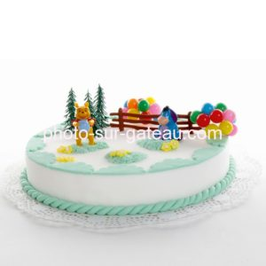 Décor pour gâteau Winnie l'ourson