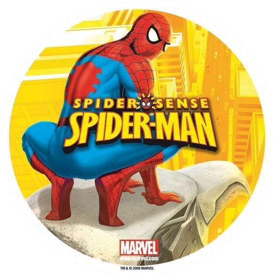 photo pour gâteau Spiderman