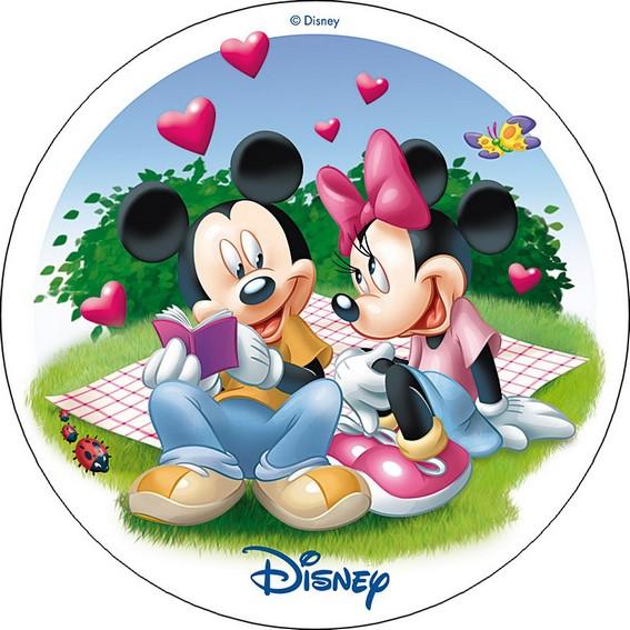 photo pour gâteau Mickey minnie