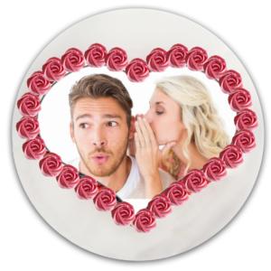 photo pour gâteau coeur imprimée sur feuille alimentaire et comestible, à poser sur votre gâteau pour tous vos événements