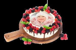photo pour gâteau ronde