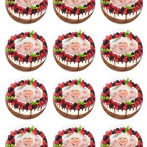 photo pour gâteau ronde 6 cm imprimée sur feuille alimentaire et comestible, à poser sur votre gâteau pour tous vos événements