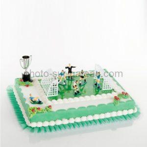 Décor pour gâteau Football