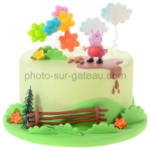 Décor pour gâteau Peppa pig