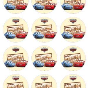 photo pour gâteau mini disques Cars