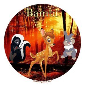 photo pour gâteau Bambi