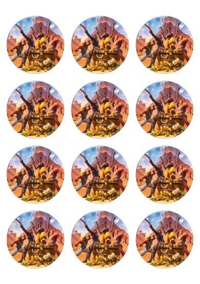 photo pour gâteau mini disques Fortnite