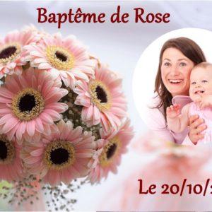 photo pour gâteau Baptême fille