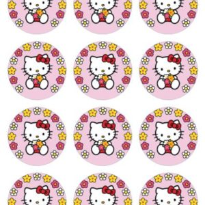photo pour gâteau ronde 6 cm Hello kitty