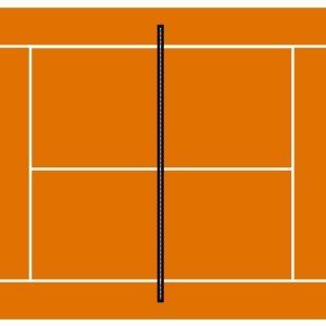 photo pour gâteau Terrain de tennis