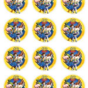 photo pour gâteau mini disques 6 cm Toy Story