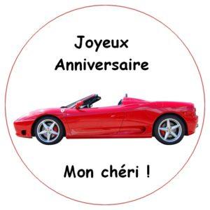 photo pour gâteau Voiture Ferrari
