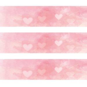 Tour de gâteau rose coeur